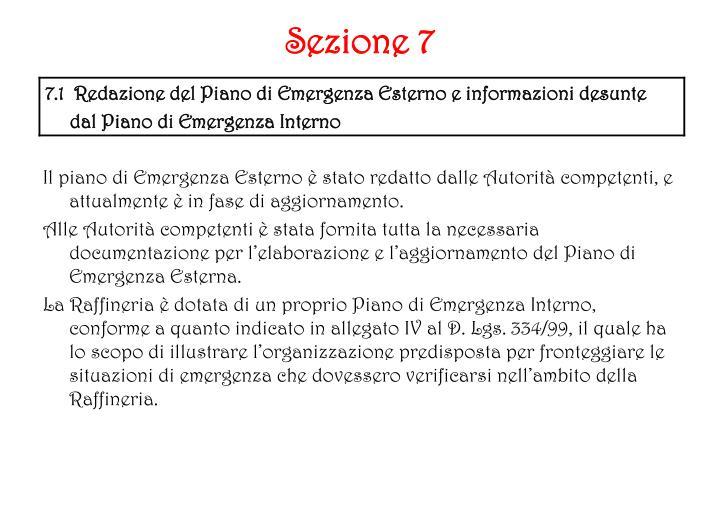 Sezione 7