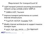 requirement for transport cont d3