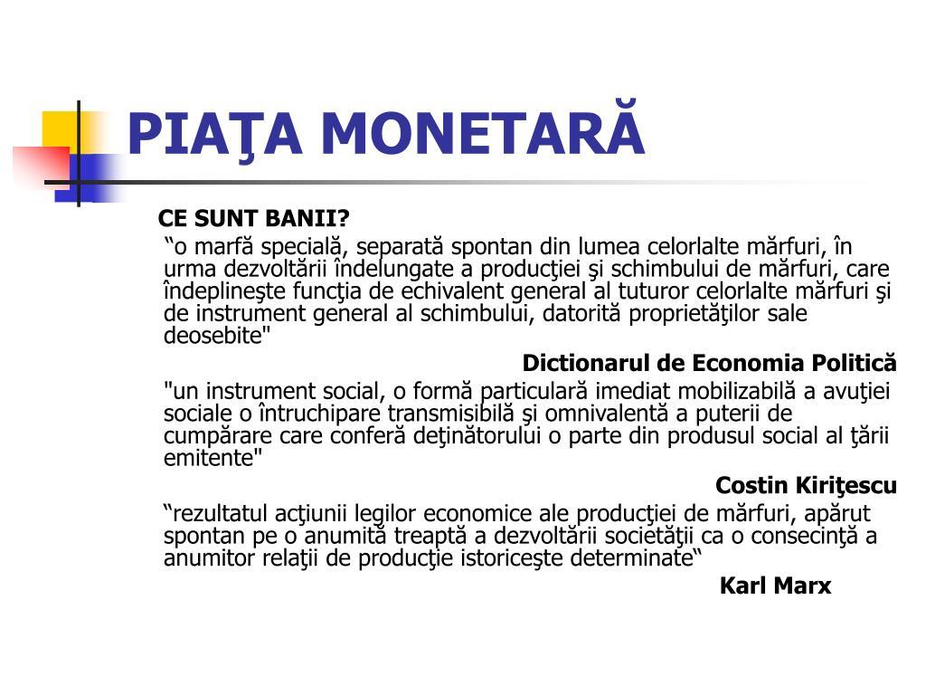 cum să faci piață monetară bani ușori