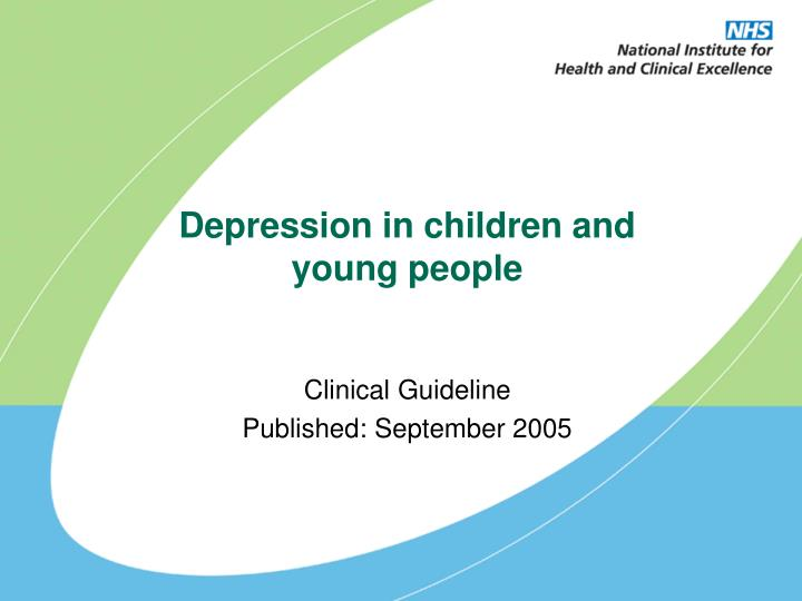 depression in children and young people n.
