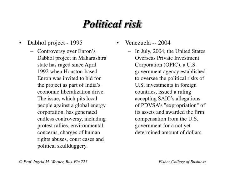Dabhol project - 1995
