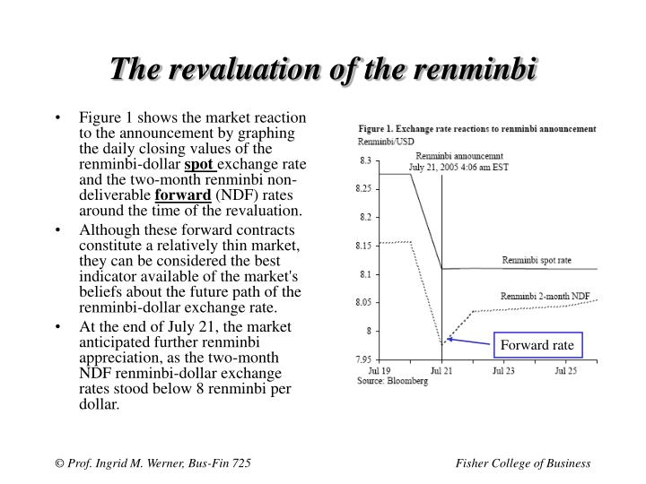 The revaluation of the renminbi