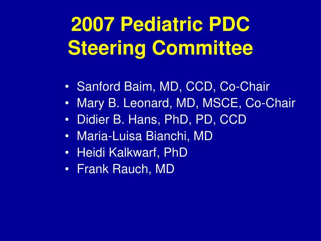 2007 Pediatric PDC