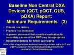 baseline non central dxa devices qct pqct qus pdxa report minimum requirements 3
