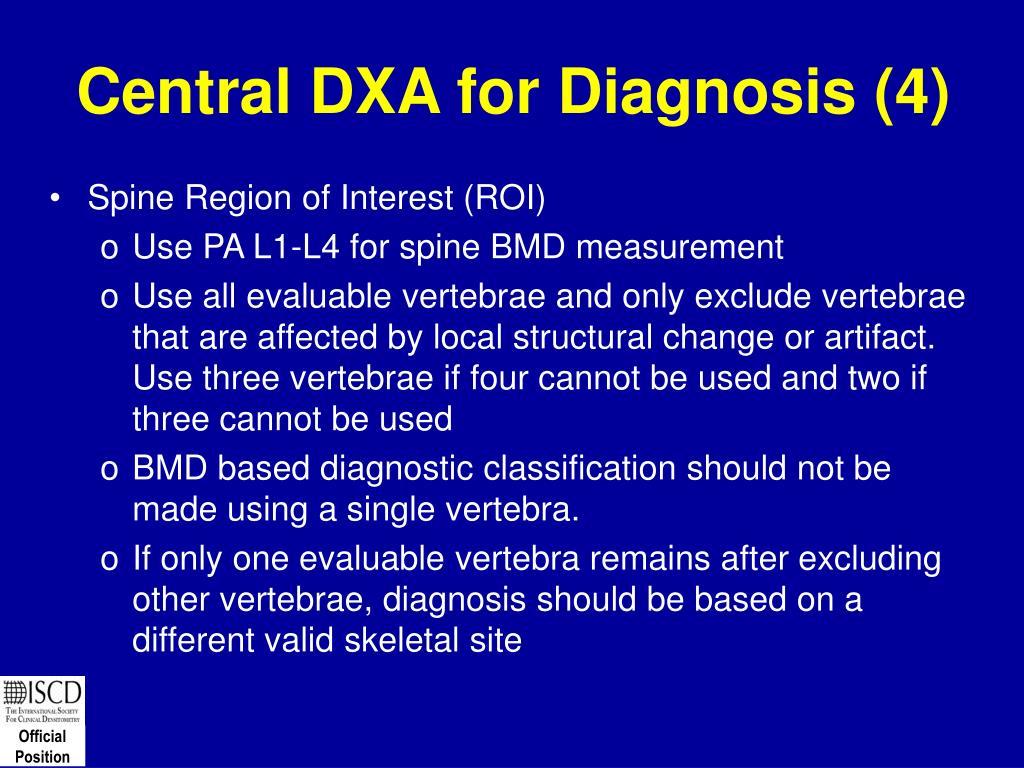 Central DXA for Diagnosis (4)