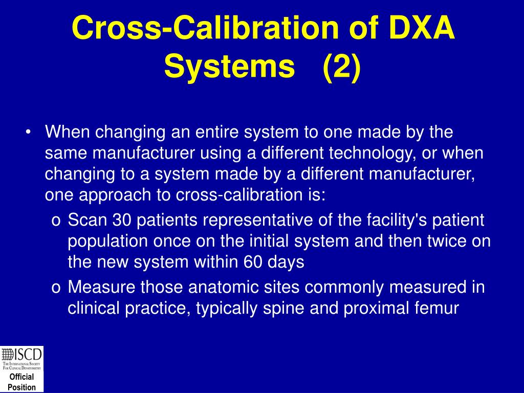 Cross-Calibration of DXA Systems   (2)