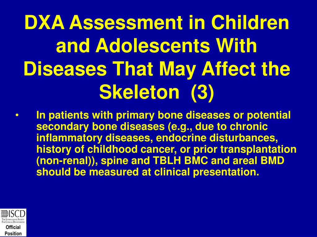 DXA Assessment in Children and Adolescents With Diseases That May Affect the Skeleton  (3)