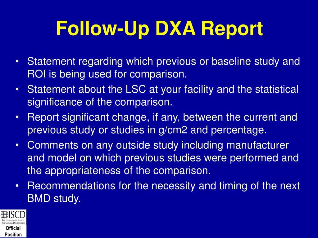 Follow-Up DXA Report