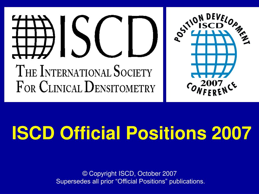 iscd official positions 2007 l.