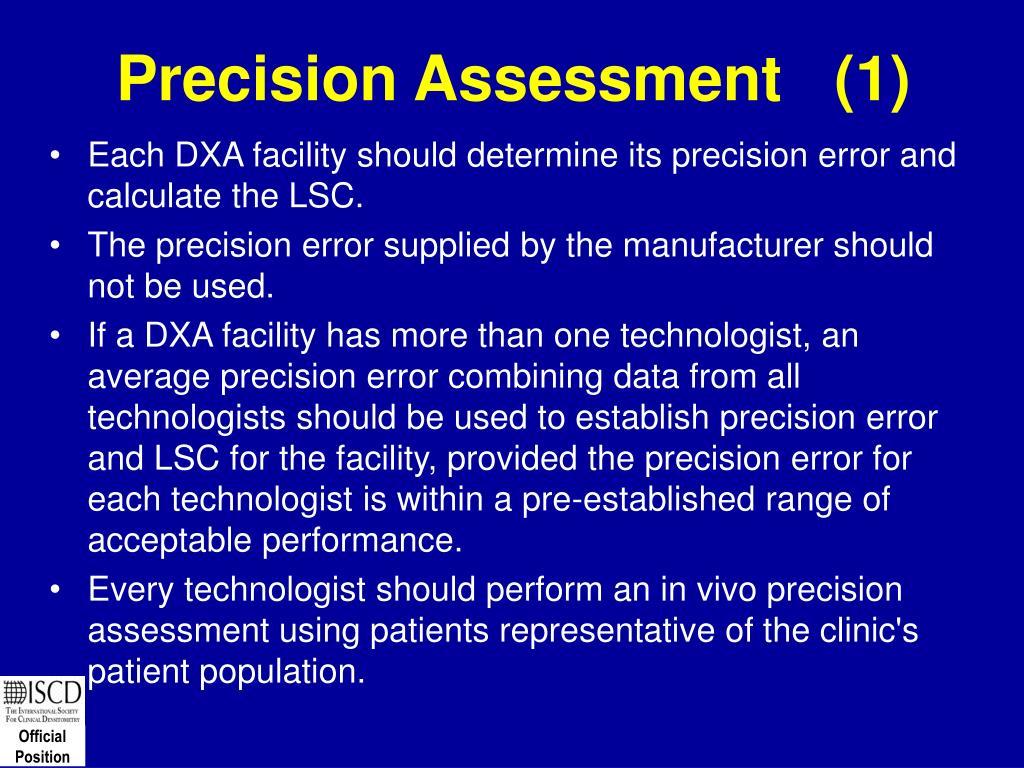 Precision Assessment   (1)