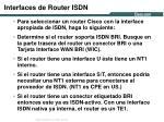 interfaces de router isdn