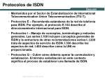 protocolos de isdn