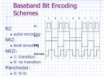 baseband bit encoding schemes
