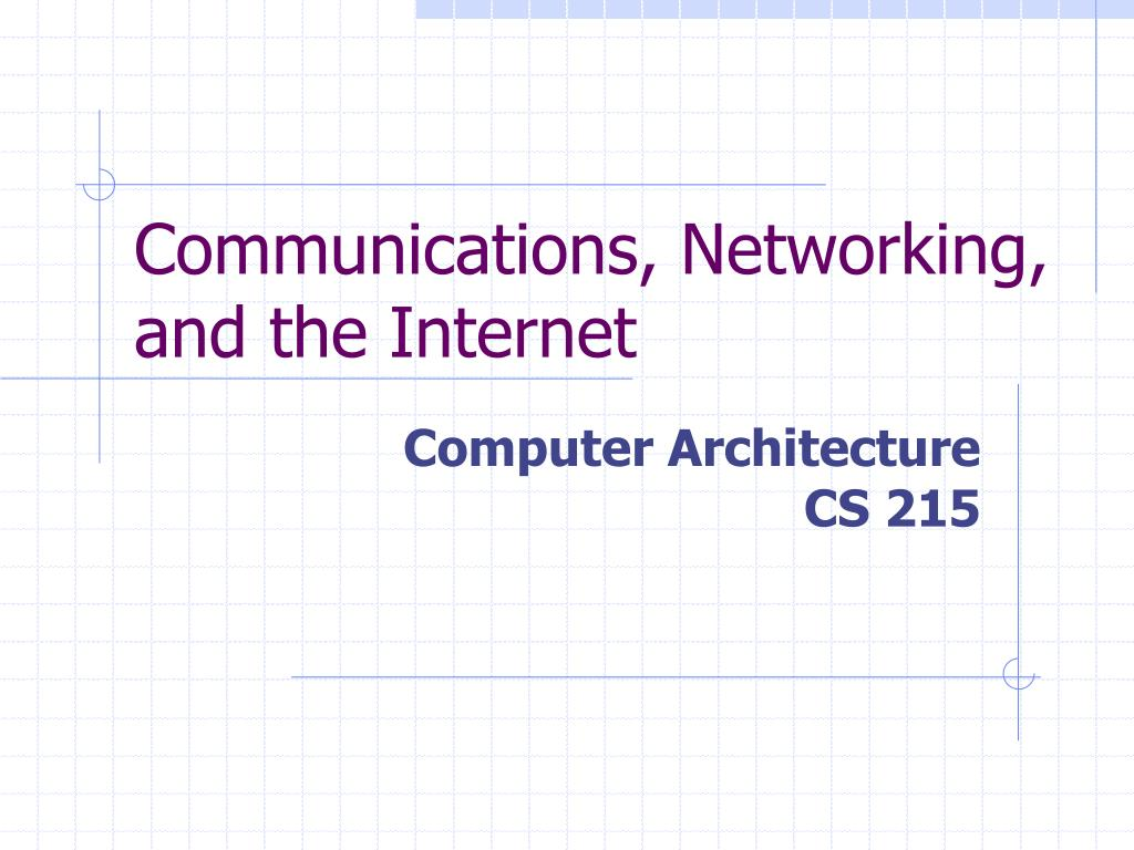 communications networking and the internet l.