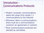 introduction communications protocols
