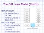 the osi layer model cont d
