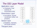 the osi layer model