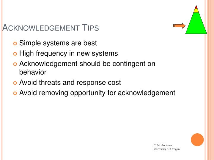 Acknowledgement Tips