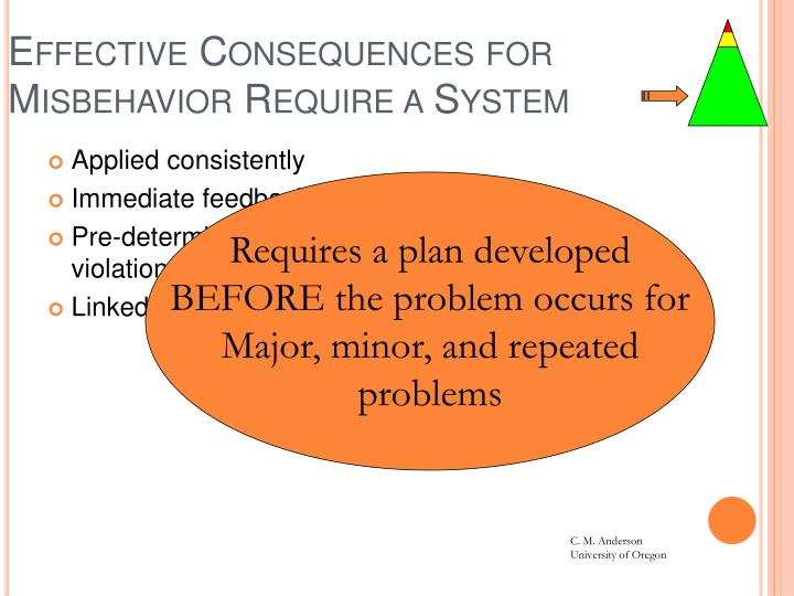 Effective Consequences for Misbehavior Require a System