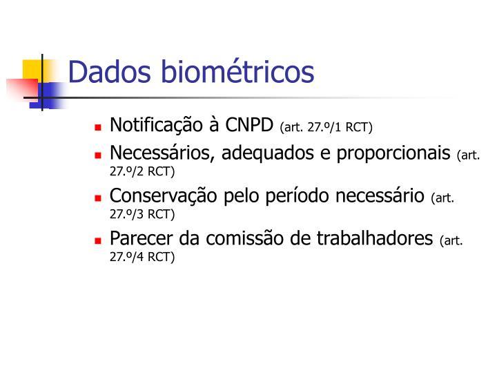 Dados biométricos