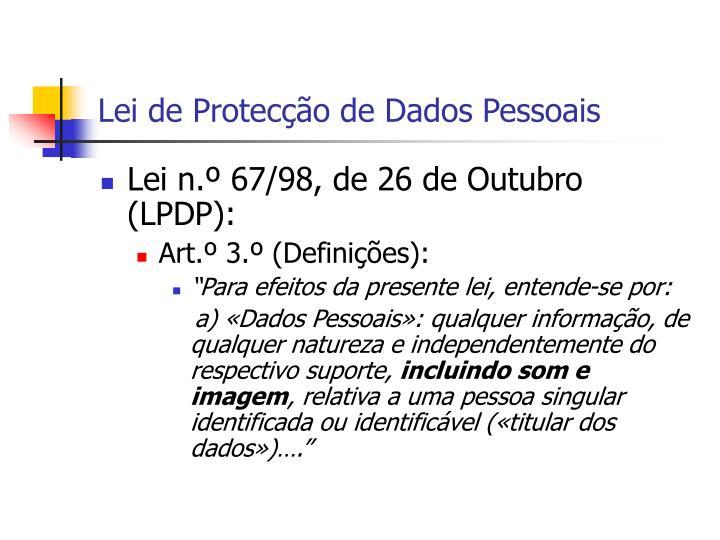 Lei de Protecção de Dados Pessoais
