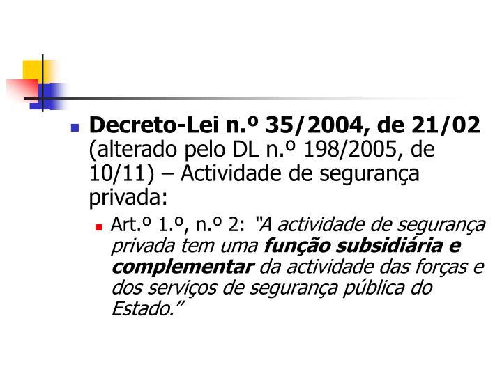 Decreto-Lei n.º 35/2004, de 21/02