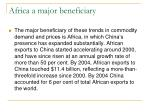 africa a major beneficiary