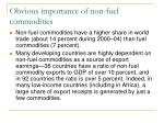 obvious importance of non fuel commodities