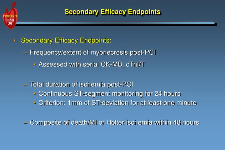 secondary efficacy endpoints n.