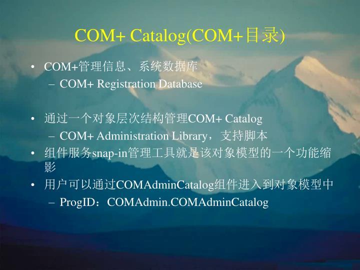 COM+ Catalog(COM+