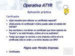 operativa atyr16
