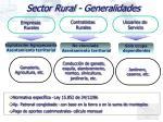 sector rural generalidades
