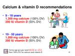 calcium vitamin d recommendations45
