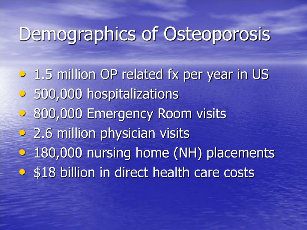Demographics of Osteoporosis