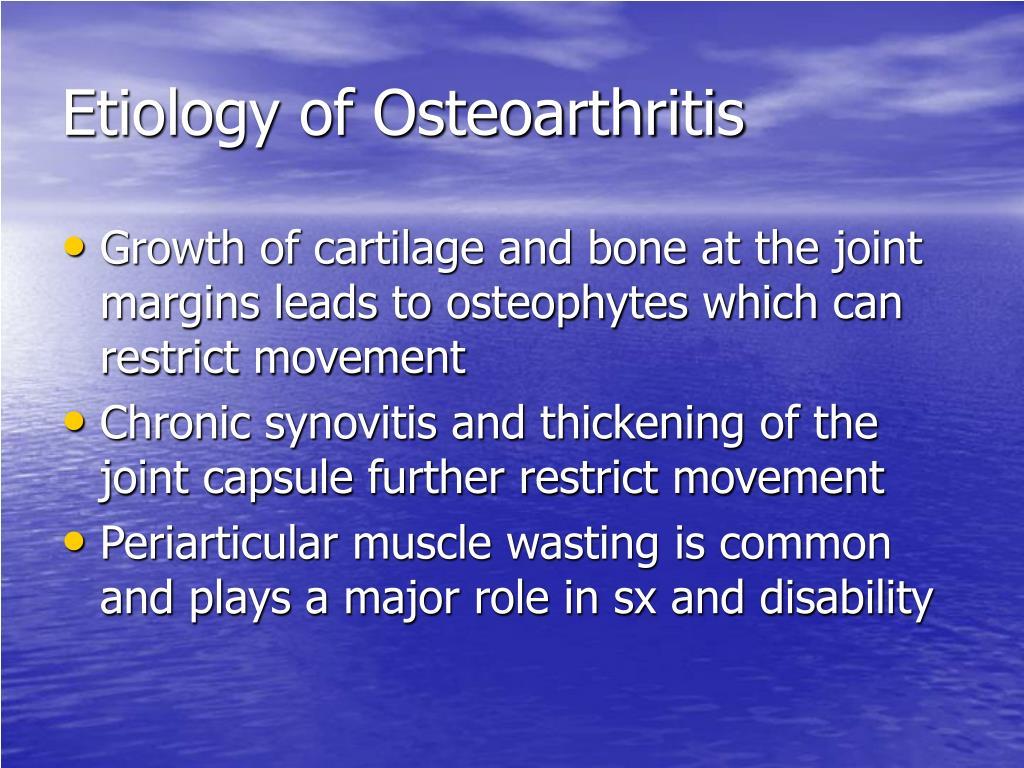 Etiology of Osteoarthritis