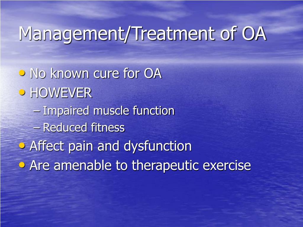 Management/Treatment of OA