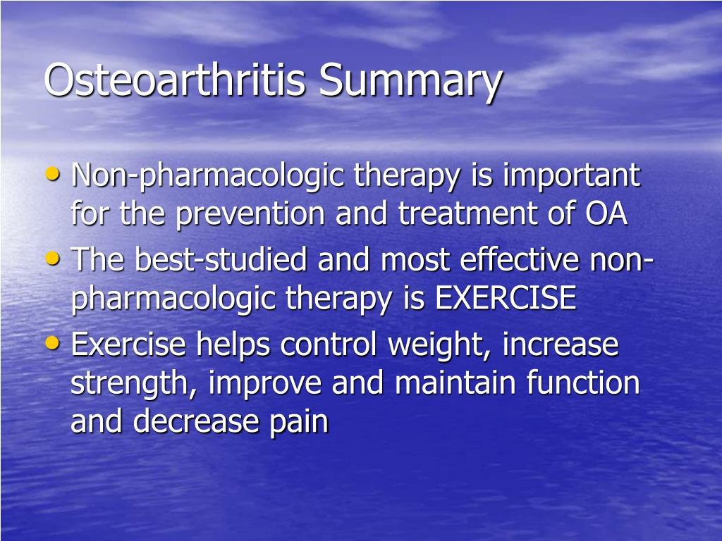 Osteoarthritis Summary