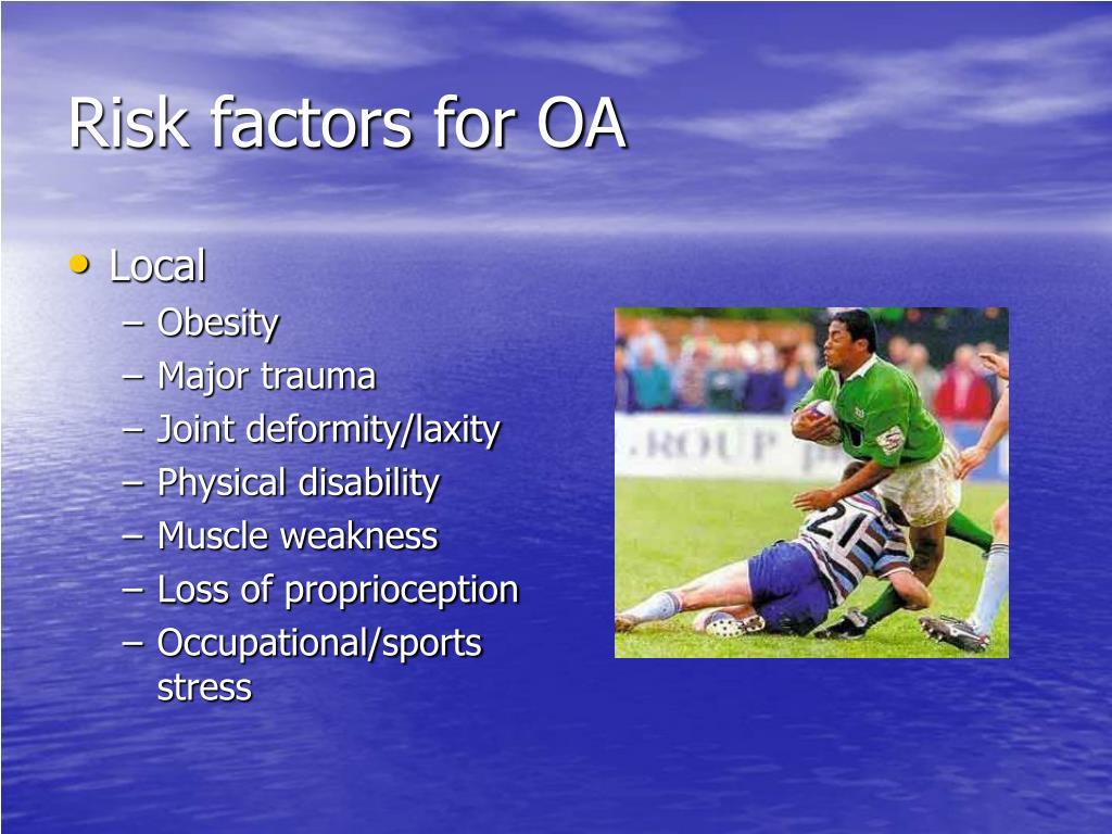 Risk factors for OA