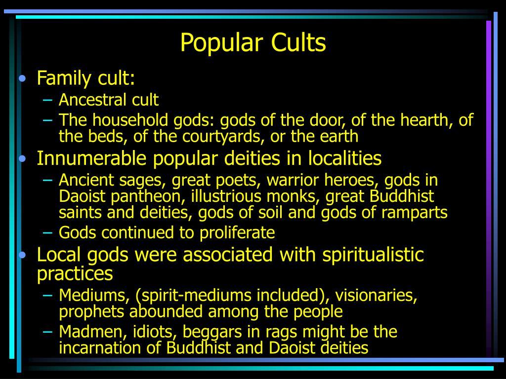 popular cults l.