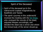spirit of the deceased