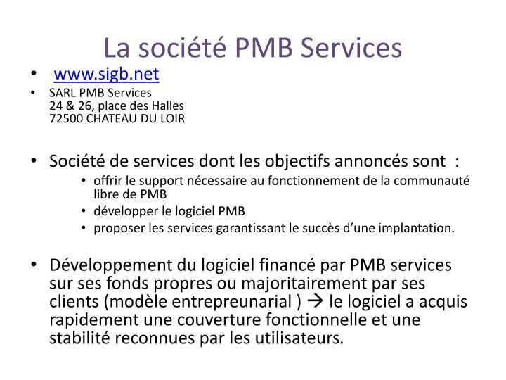 La soci t pmb services