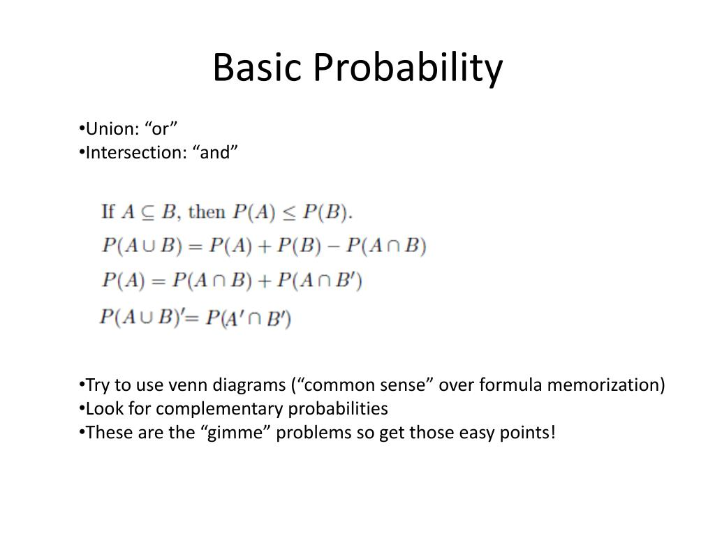 PPT - Section 1 - Basic Probability Concepts PowerPoint