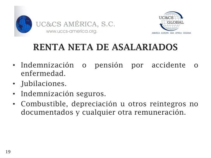 RENTA NETA DE ASALARIADOS