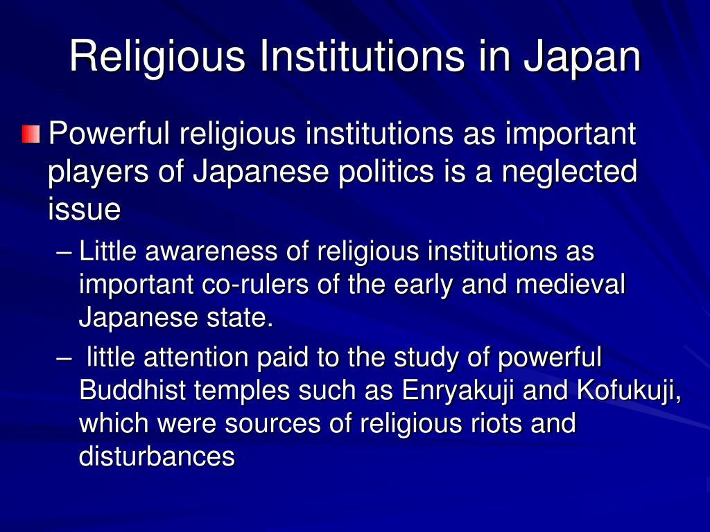Religious Institutions in Japan