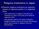 religious institutions in japan