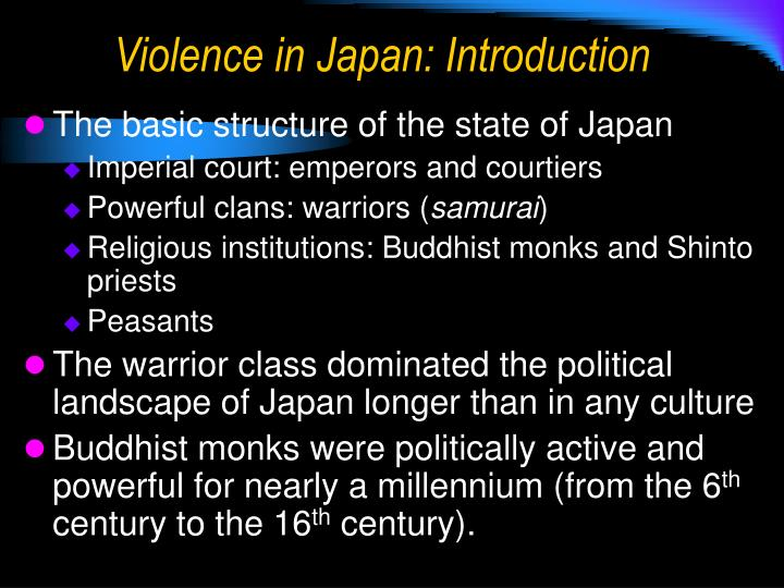 Violence in japan introduction