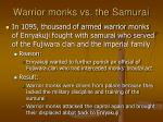 warrior monks vs the samurai
