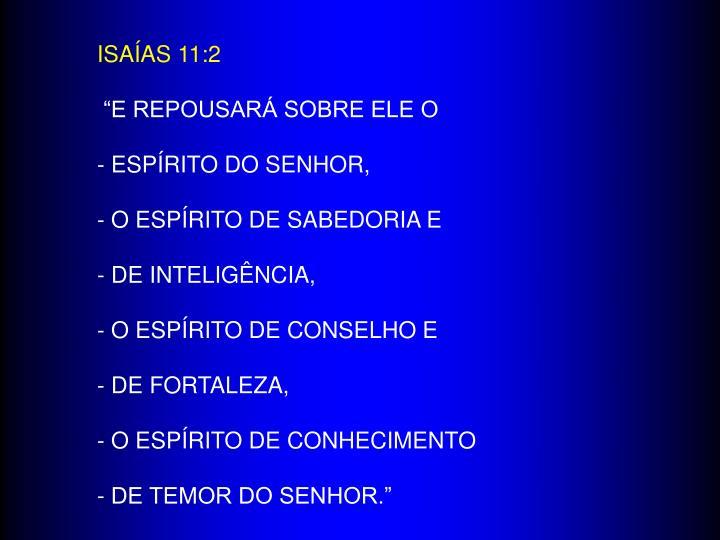 ISAÍAS 11:2