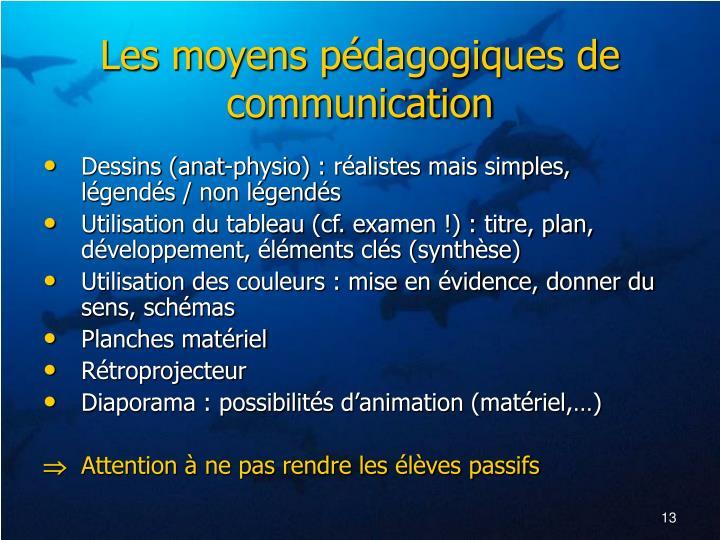 Les moyens pédagogiques de communication