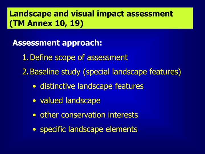 Landscape and visual impact assessment